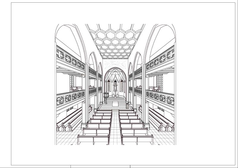 6.403 Innenraumperspektive Chor